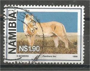 NAMIBIA, 1998, used $1.90 Wild Cats Scott 879