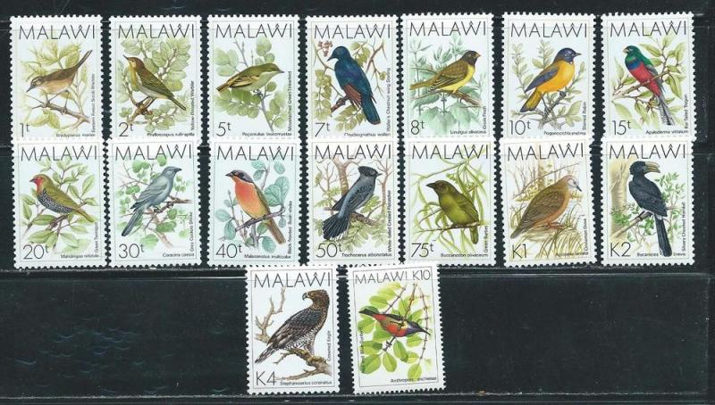 Malawi 518-33 1988 Birds part set MNH