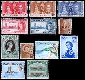 Dominica Scott 94 // MR1 (1916-63) Mint LH F-VF