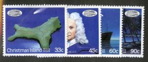 CHRISTMAS ISLAND 179-182 MH SCV $2.17 BIN $1.10 HALLEY'S COMET