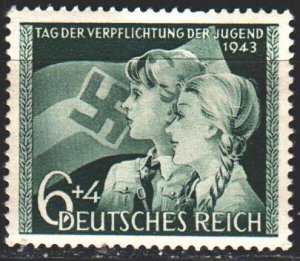 Third Reich. 1943. 843. Youth Commitment Day. MNH.