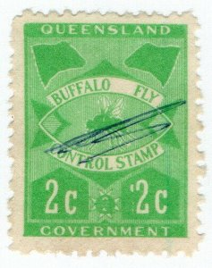(I.B) Australia - Queensland Revenue : Buffalo Fly 2c