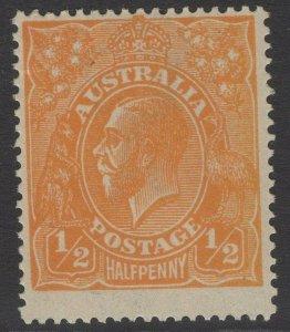 AUSTRALIA SG56 1923 ½d ORANGE MNH