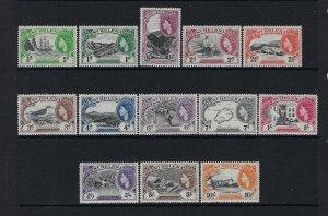 ST HELENA SCOTT #140-152 1953 QEII COMPLETE SET- MINT XXLIGHT HINGED