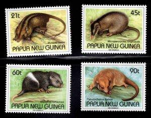 Papua New Guinea Scott 798-801  MNH**Mammal set 1993