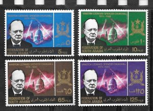 So. Arabia # 19-22  Sir Winston Churchill    (4)  Mint NH