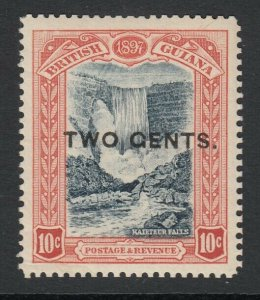 British Guiana, Sc 158a (SG 223b), Mint, small part OG, TWO GENTS variety