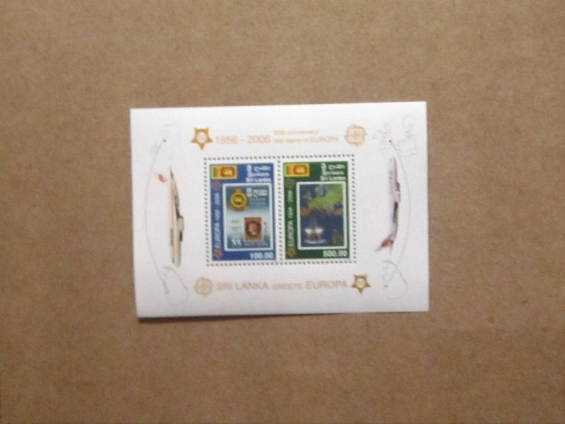 Sri Lanka - 1540a, MNH S/S. Europa. SCV - $13.50