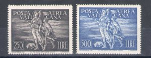 1948 Vatican Mail Aerea Tobia N°16/17 2 Values MNH Centered