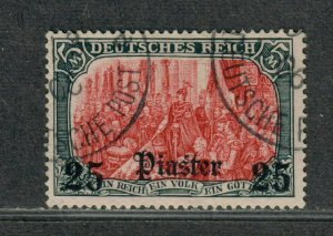 German Offices In Turkey Sc#42 Used/F-VF+, Signed Unwmk, Cv. $525