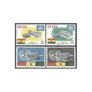 Ghana 247-250,250a sheet,MNH.Michel 257-260,Bl.20. New WHO Headquarters,1966.