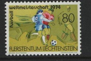 LIECHTENSTEIN, 549,  MNH, 1974 Soccer