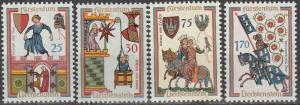 Liechtenstein #381-4   MNH  CV $2.60  (S8755)