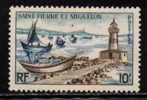ST PIERRE & MIQUELON Scott # 355 MNH - Lighthouse & Fishing Fleet