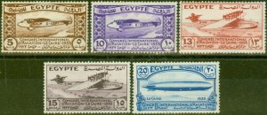 Egypt 1933 Aviation Congress Set of 5 SG214-218 Good Mtd Mint