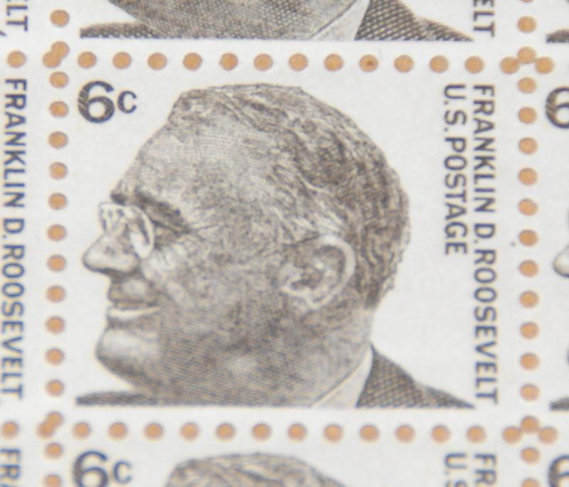 1966 6 Cent Franklin D Roosevelt Sheet Of Stamps Sc 1284