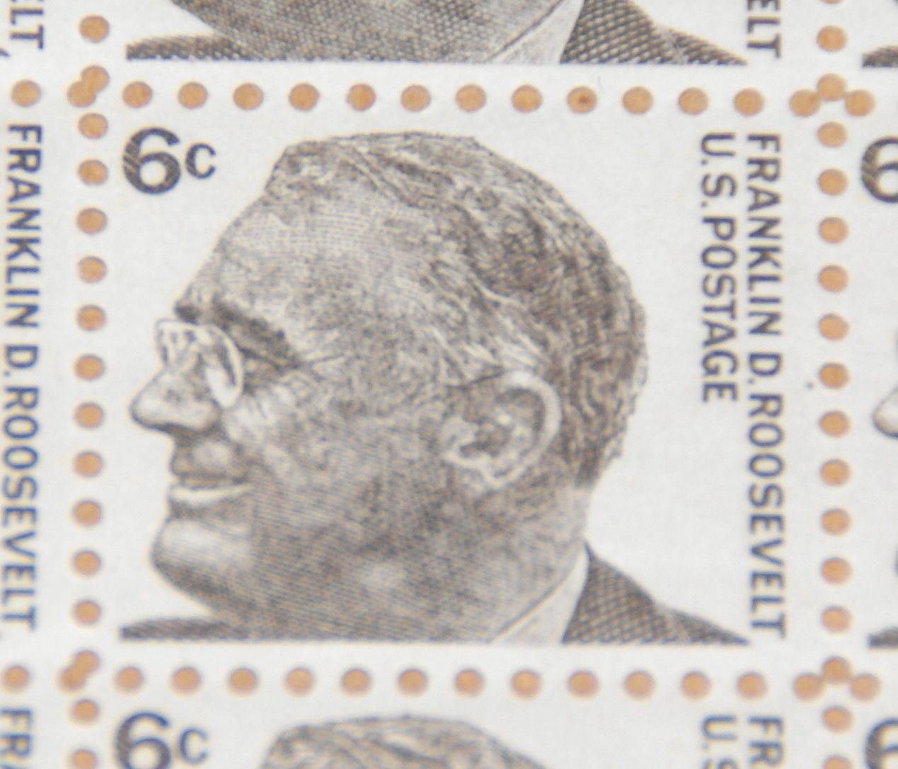 1966 6 Cent Franklin D Roosevelt Sheet Of Stamps Sc 1284 HipStamp