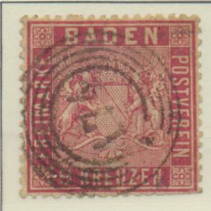 Baden (German State) Stamp Scott #14, Used - Free U.S. Shipping, Free Worldwi...
