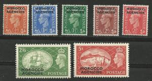 Great Britain-Morocco  # 263-69  King George VI  complete (7) VF Unused VLH