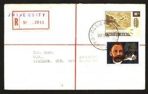 PAPUA NEW GUINEA 1973 Reg cover - Relief No.3 cds used at University.......90928