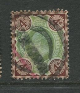 Great Britain  #133  Used 1902 Single 4p Stamp