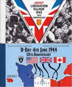 Jersey 1994 D-Day & 1995 Liberation prestige booklets SB51, 53 cat £32