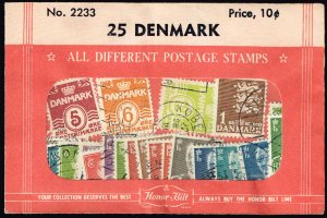 DENMARK Stamp USED STAMP SELLING PACKET
