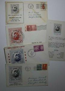 Wayne Stamp Society Detroit MI Exhibition 1954 Philatelic Expo Cachet Cover Lot4