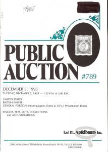 Apfelbaum: Sale # 789  -  United States, British Empire, ...