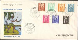 1959 TOGO FIRST DAY COVER TAX STAMPS WITH CACHET