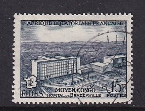 French Equatorial Africa   #191  used  1956   FIDES   15fr   hospital