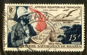 FRENCH EQUATORIAL AFRICA C35 USED BIN $1.00 PERSON