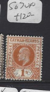 CAYMAN ISLANDS (P1111B)   KE    1/-    SG 7      VFU