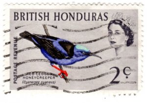 British Honduras Scott 168 (1962: Red-legged Honeycreeper - Bird)