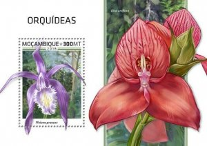 HERRICKSTAMP NEW ISSUES MOZAMBIQUE Orchids S/S