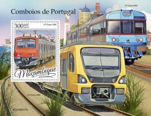 MOZAMBIQUE - 2019 - Trains of Portugal - Perf Souv Sheet - MNH