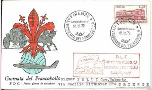 TRAINS - POSTAL HISTORY - SPECIAL COVER: ITALY 1972