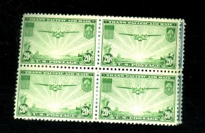 C20-1 MINT BLOCKS F-VF OG TOP HR BOTTOM NH Cat $50