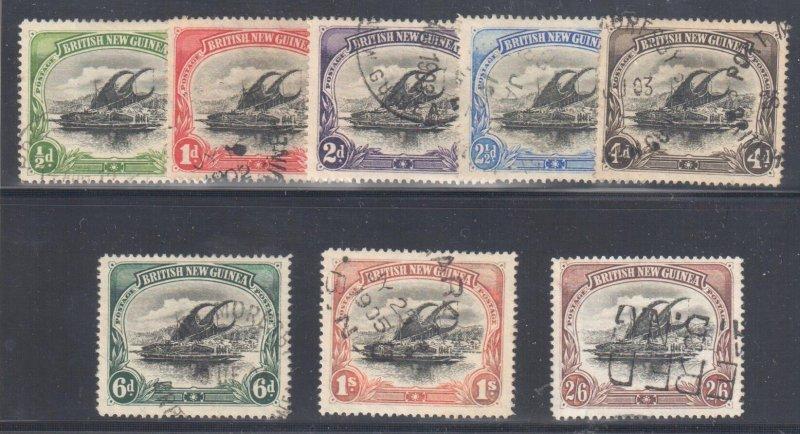 British New Guinea #1 to 8 USED VF C$875,00 +++