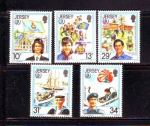 Jersey  Sc 356-0 1985 Int Youth Year stamps mint NH