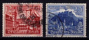 Germany 1939 Winter Relief Fund, 12pf & 25pf [Used]