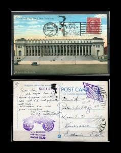 USA Postcard 1929 Used send to Estonia SC: 554 Washington