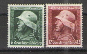 Germany - Third Reich 1935 Sc# 452-453 MH VG/F - War Heroes day
