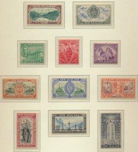 New Zealand Stamps Scott #247 To `257, Used - Free U.S. Shipping, Free Worldw...