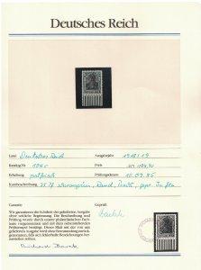 Germany Reich 'GERMANIA' 75 pfennig Margin with BOREK Certificate RARR! 1918