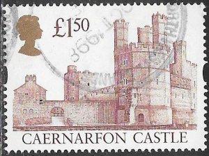 Great Britain 1446a Used - High Value Castles - ₤1.50 Caernarfon Castle