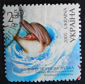 Dolphin, Fish, Ukraine, 2005, №123-1(IR)