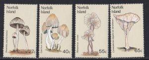 Norfolk Island, # 306-309, Mushrooms, Mint NH, 1/2 Cat.