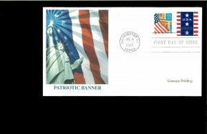 2007 FDC Patriotic Banner Washington DC