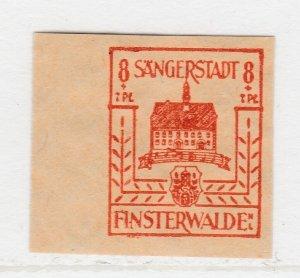 Finsterwalde WWII Germany World War II Local Stamp 1946 8+7pf MNH** A20P4F180